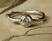 Round Moissanite Branch Ring - Custom for sebaseq