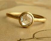 5mm Rose Cut Moissanite Ring