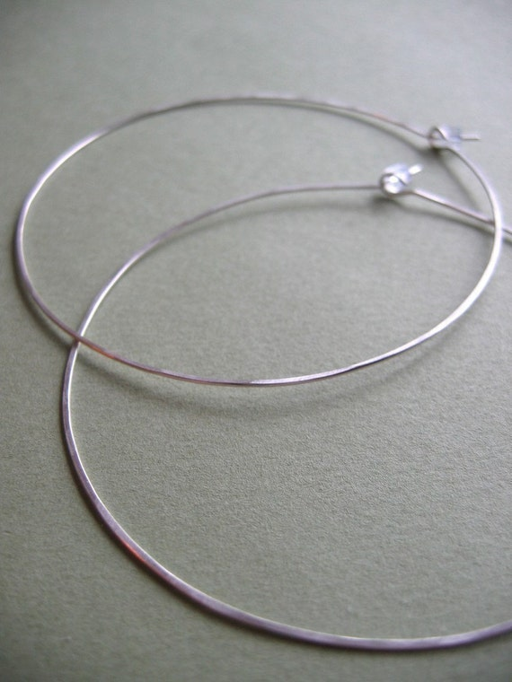"Hammered Hoops - 2"" or 3"""