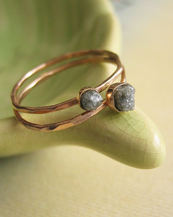 Rough Diamond Stacking Ring