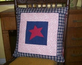 Star Quilted Pillow Cover