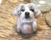 Chinese Crested Polymer Clay Dog European Bead / Charm
