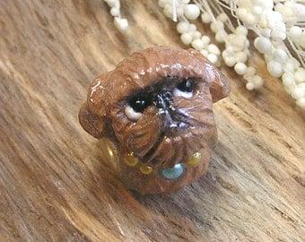 Brussels Griffon Dog Polymer Clay European Large Hole Bead/Charm Nanjodogz
