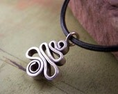 EARTH SONG - Thai Silver Pendant on Leather