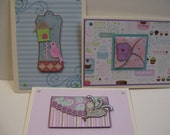 Set of 3 Handmade Greeting Cards FREE SHIPPING in US
