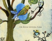 Egg Heaven, an original Katherine Dunn painting on wood