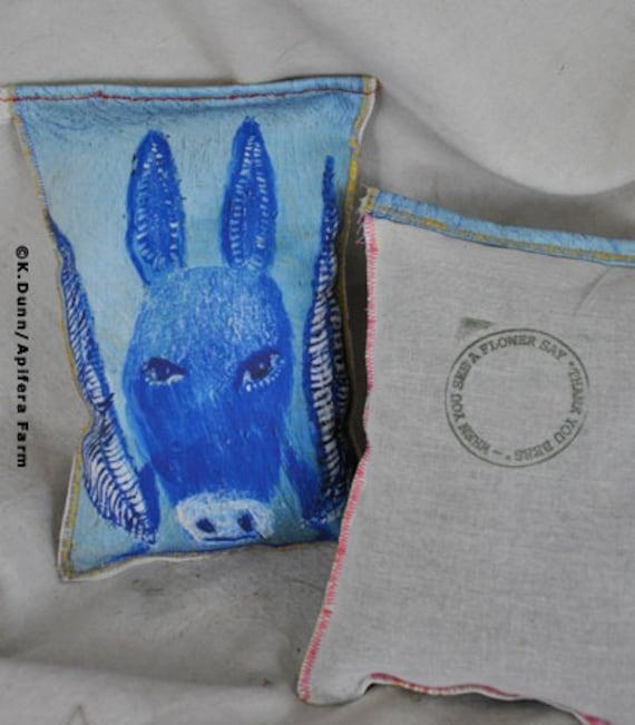 Winged Donkey Raggedy Sachet , lavender filled