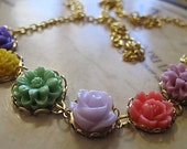 Wee Little Flower Garden Necklace...Ready To Ship