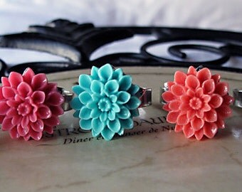 Custom Listing For Becca ,Choose Your Color, Chrysanthemum  Ring's, BFF.