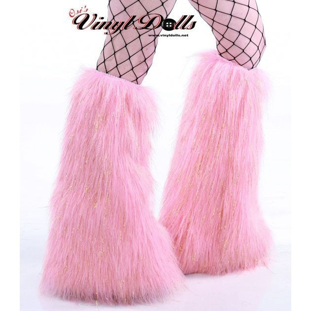 Gogo Dancer Fluffy Boots Sparkle Baby Pink Rave Covers Fur