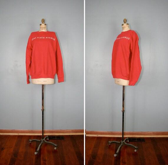 vintage . SAKS FIFTH AVENUE . cherry . red . sweatshirt
