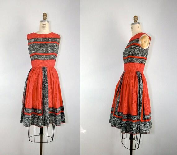 R E S E R V E D . vintage . 1960s . ANNE FOGARTY . cotton . swing . dress