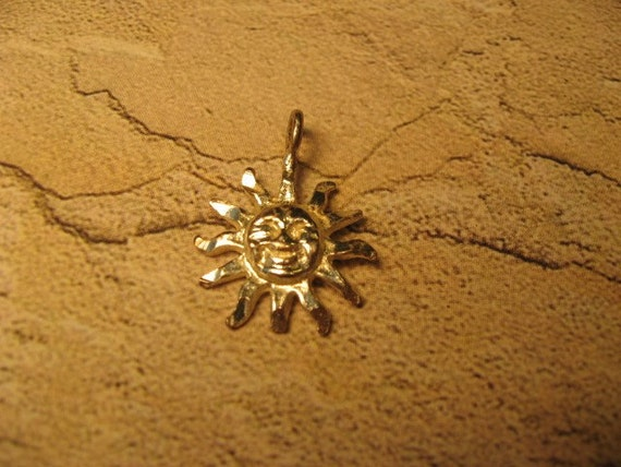 Destash-Sterling Silver Sun Charm