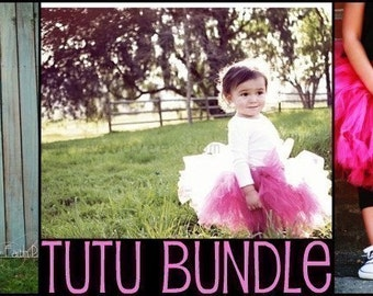 PDF-No Sew Tutu Instructions BUNDLE-DIY, eBook, Tutorial