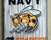 US Navy Tavern Sign, Seabees Pub Sign, Sailor, Veterans
