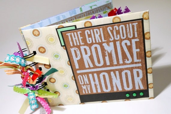 Girl Scout Scrapbook Mini Album Proud to be a Girl Scout On My Honor