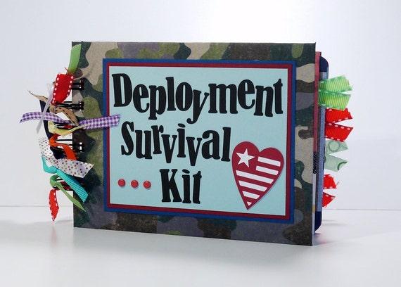Military Scrapbook Mini Album Premade, Deployment Survival Kit, Miss You, Come Home Soon