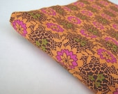 One Yard of Orange Mandala Print Cotton