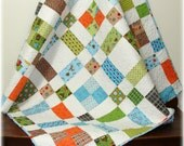 Baby Boy Quilt Scrappy Scatter Patch
