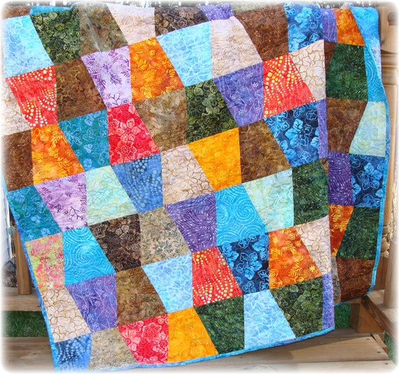 Batiks Tumbler Quilt