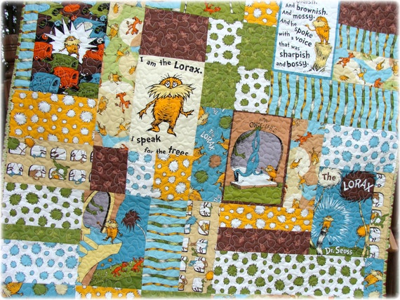 Dr Seuss The Lorax Baby Quilt