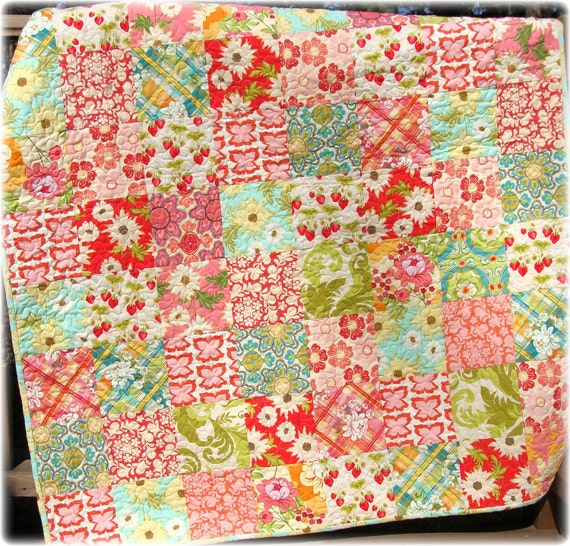 Meadowsweet  Baby Girl Quilt Patchwork LAST ONE