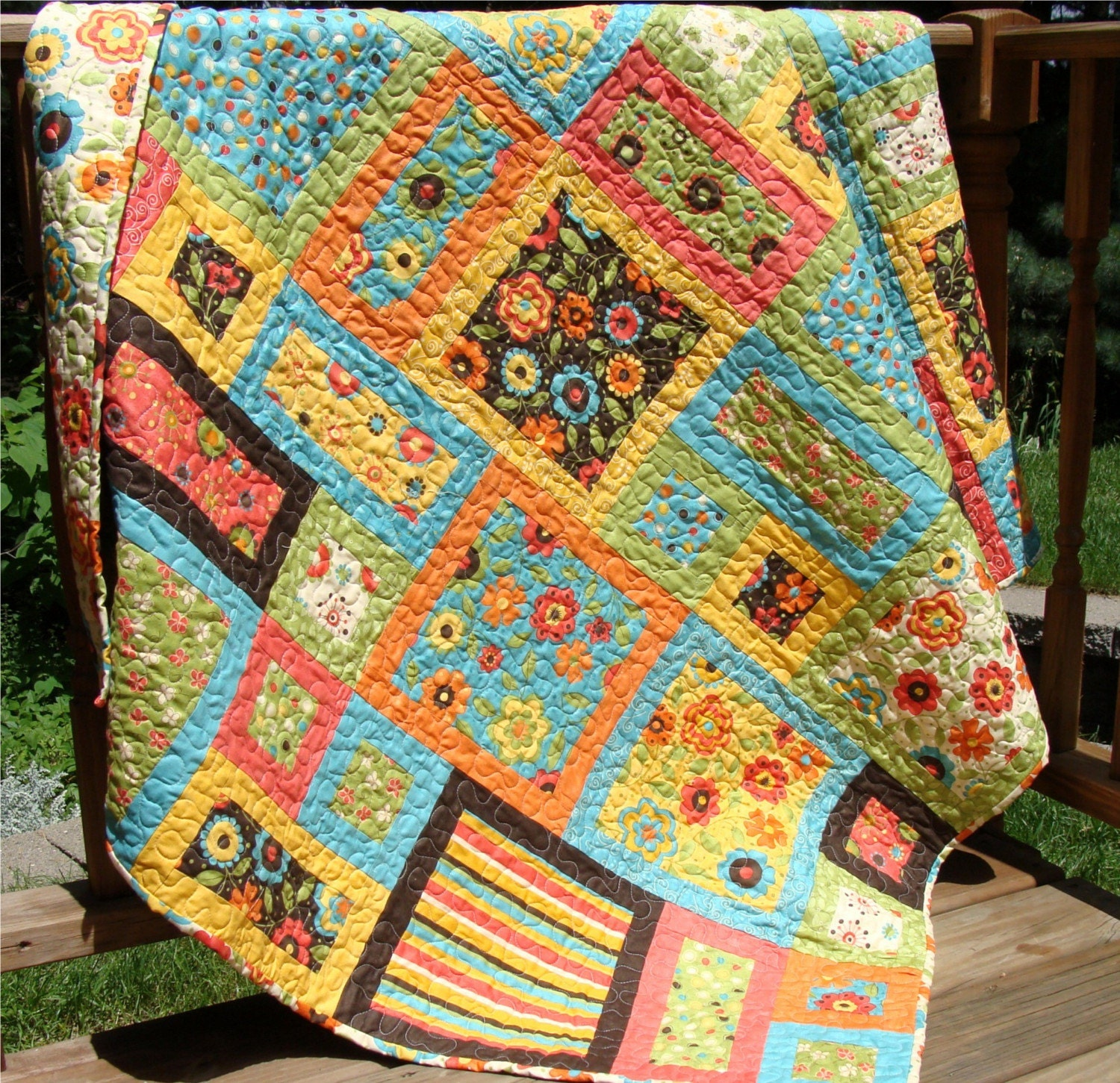 delightful frolic toddler bed quilt and  or lap by carlenewestberg