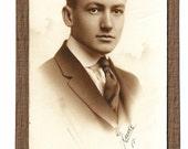 Victorian Photo GORGEOUS 1917 photo corners vintage photograph antique ephemera mounted