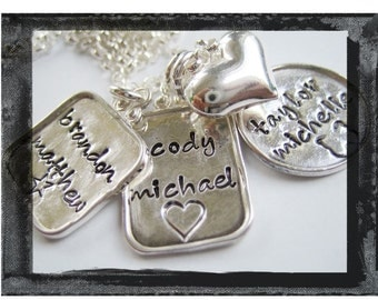 The Ultimate Family Keepsake CHARM Necklace - Sterling Silver Artisan Charms