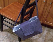 periwinkle striped medium Roxy Boxy tote