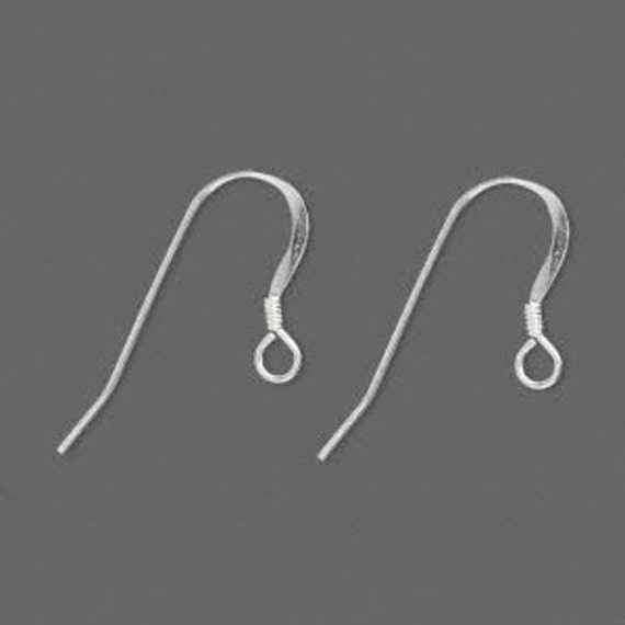 DD-925 Sterling Silver Earwires Fishooks with coils 5 pairs