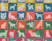 DEAL Colorful Dogs and Cats on place mats   - Set of 4