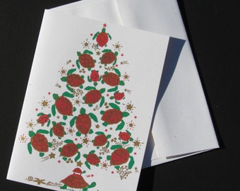 Sea Turtle Tree Christmas Cards - Box of 6