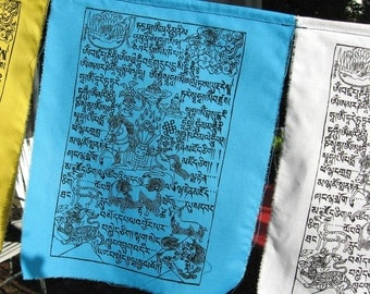 Windhorse Tibetan prayer flags - set of ten