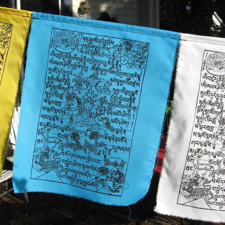 Windhorse Tibetan Prayer Flags Set Of Ten By