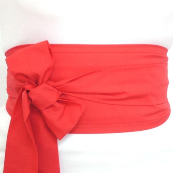 Looby Lou Obi belt - Plain Red