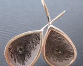 Feather teardrop earrings