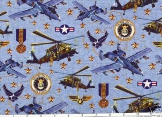 Us Air Force Quilt Fabric Patriotic Military Robert