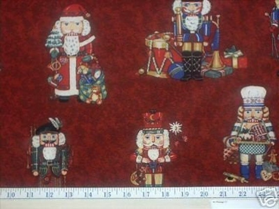 NUTCRACKER Suite Fabric - Christmas Nutcrackers Soldiers - Northcott Monarch - RARE HTF
