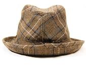 vintage Tweed Hat Grandpa Old Man Hipster Hat
