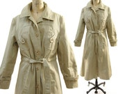 70s Classic Trench Coat with Removable Quilted Lining