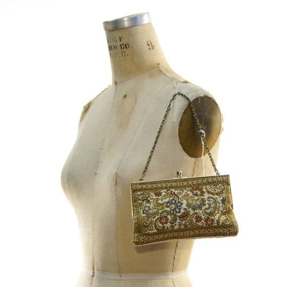 RESERVED for adiliqbal 1950's Mini Tapestry Clutch or Handbag
