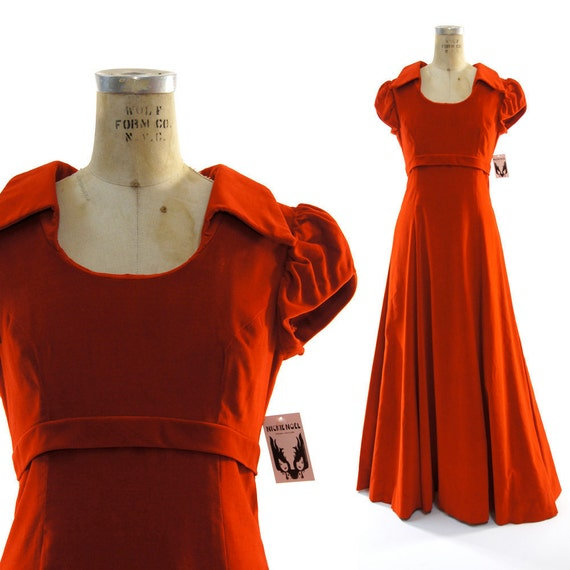 Velvet Opera Gown in Candy Apple Red