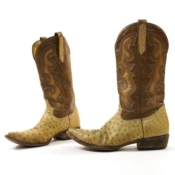 Women S Sz 8 5 Men S Sz 7 Ostrich Cowboy Boots With