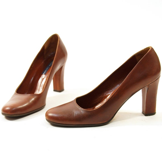 Ralph Lauren Brown Leather Pumps sz 8