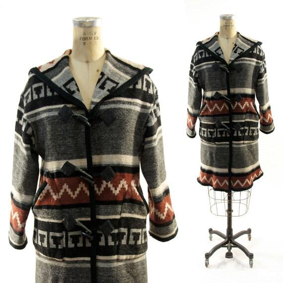 Southwest Cardigan Sweater Coat / 1980s