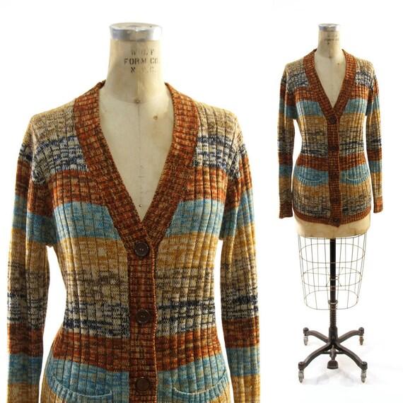 70s Space Dye Cardigan Sweater