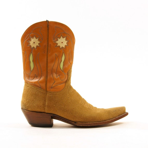 Star Flower Shortie Cowboy Boots / Women's sz 10