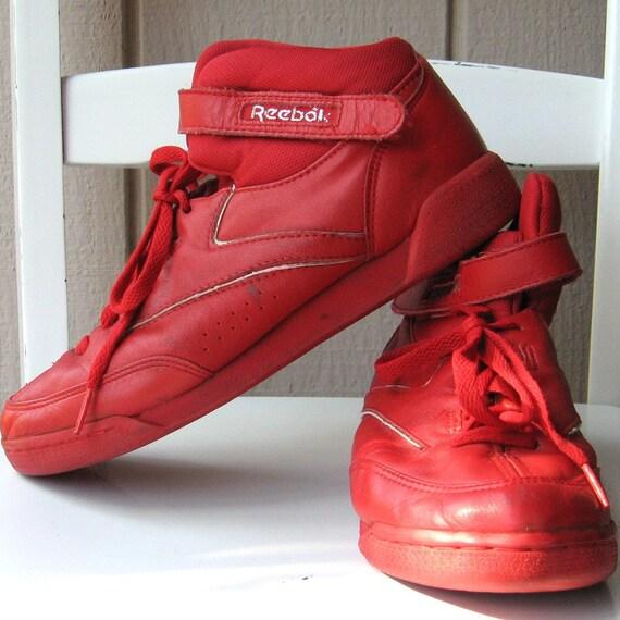 sale cherry reebok high top tennis shoes