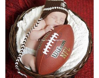 newborn hat photography prop football ear flap cap